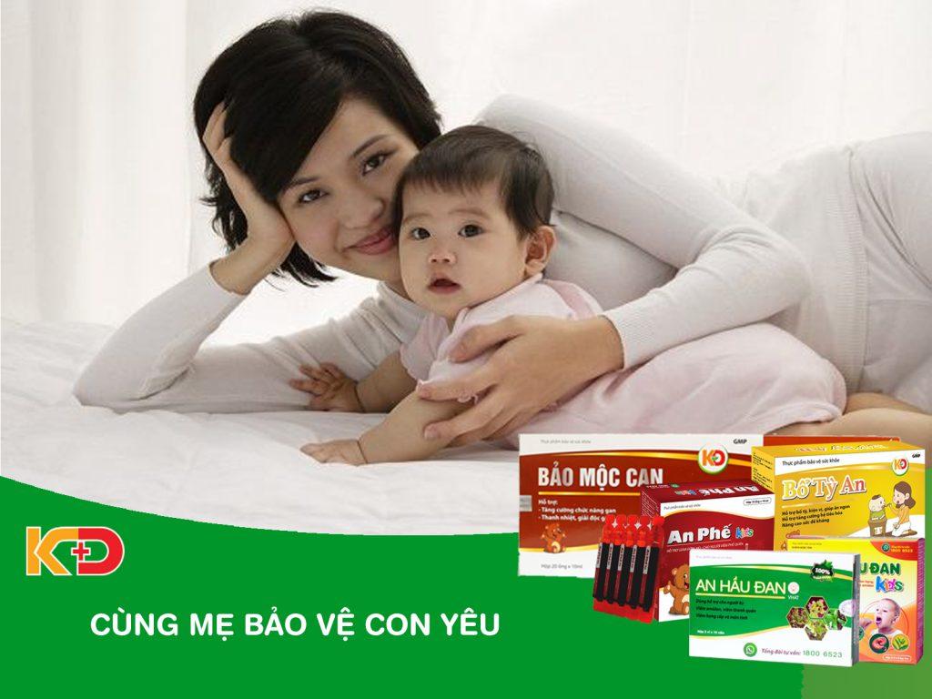 Công ty TNHH Y Dược Kinh Đô cùng mẹ bảo vệ con yêu