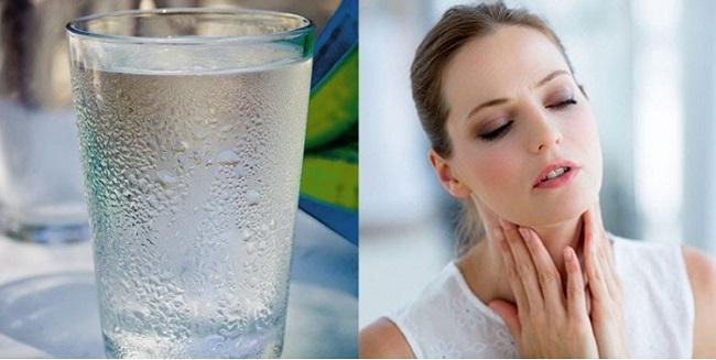 Hạn chế uống nước lạnh để phòng viêm amidan